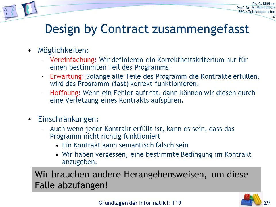 Design by Contract zusammengefasst