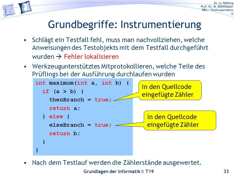 Grundbegriffe: Instrumentierung