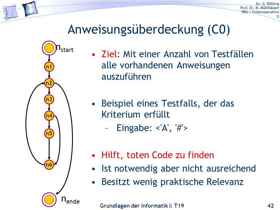 Anweisungsüberdeckung (C0)