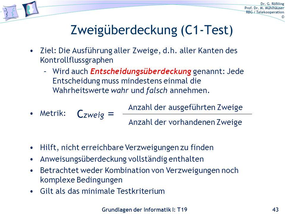 Zweigüberdeckung (C1-Test)