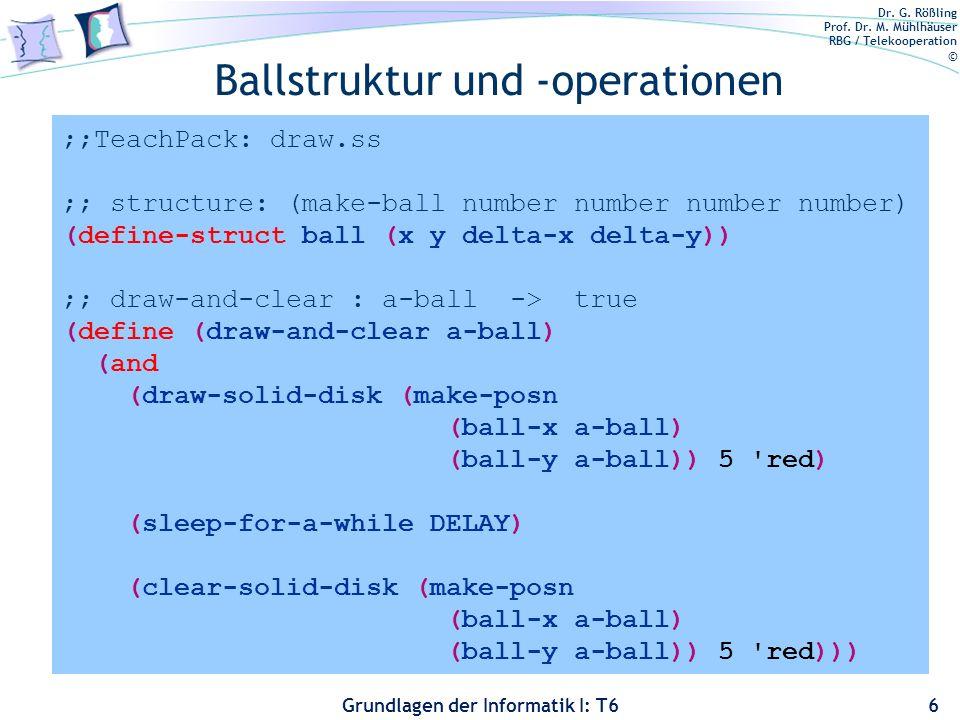 Ballstruktur und -operationen