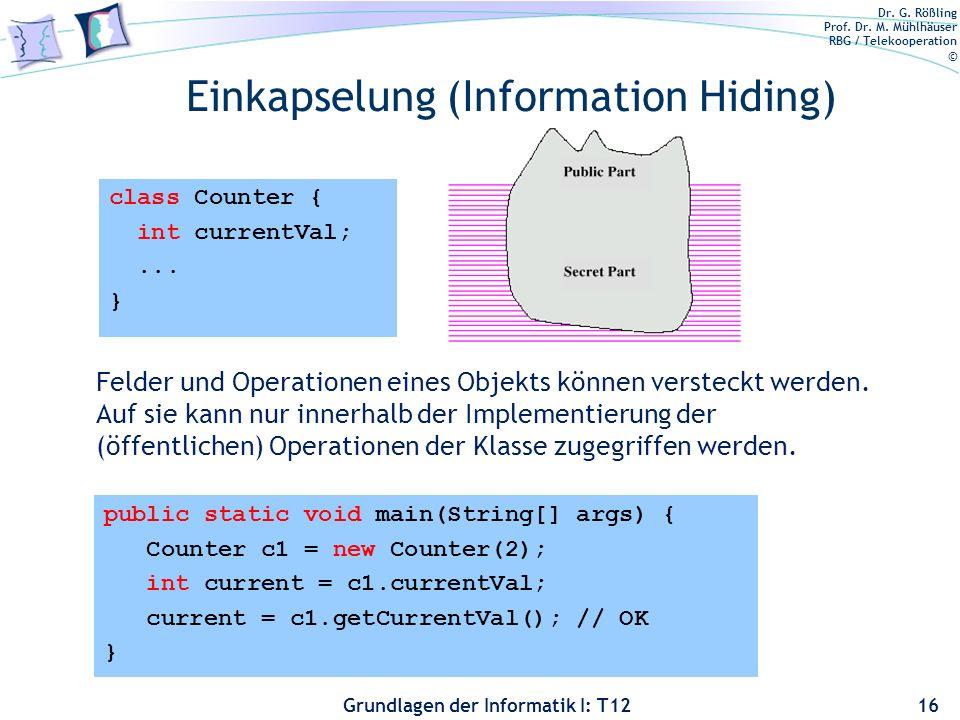 Einkapselung (Information Hiding)