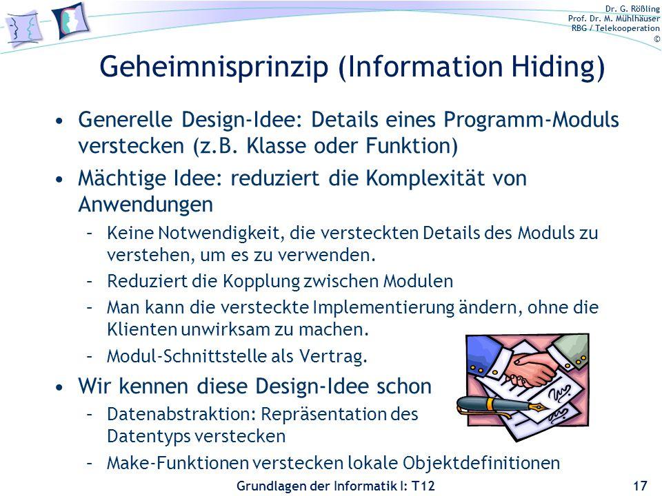 Geheimnisprinzip (Information Hiding)