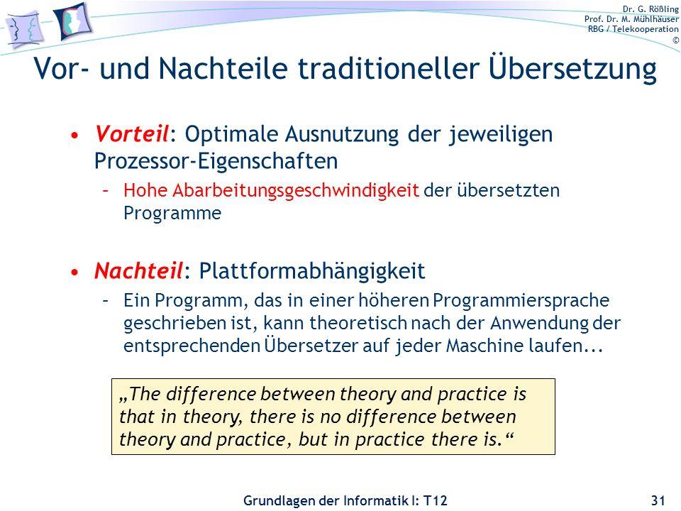 Vor- und Nachteile traditioneller Übersetzung