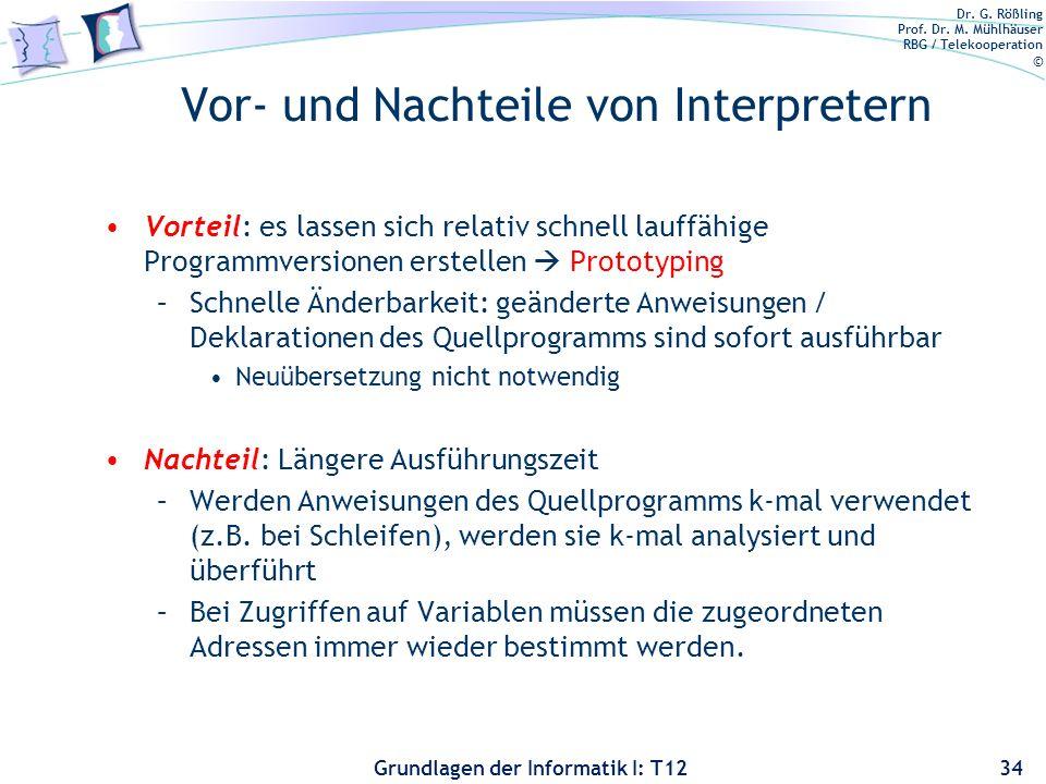 Vor- und Nachteile von Interpretern