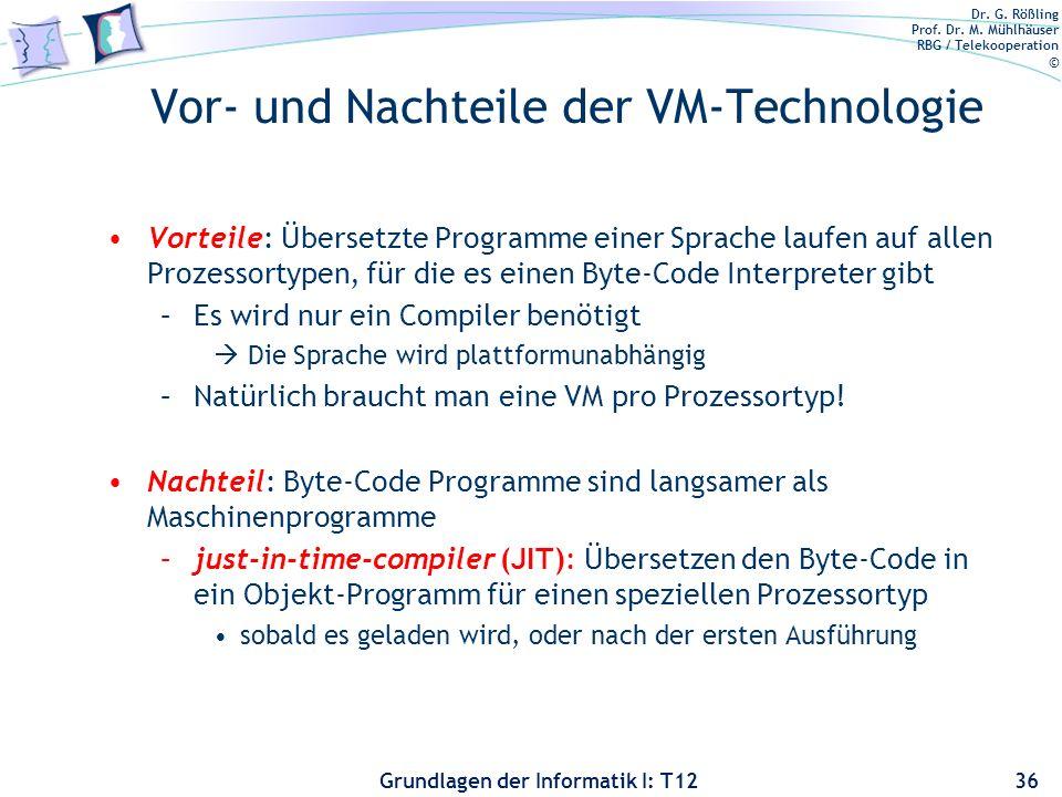 Vor- und Nachteile der VM-Technologie