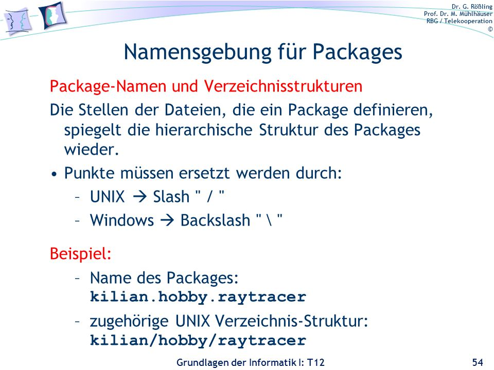 Namensgebung für Packages