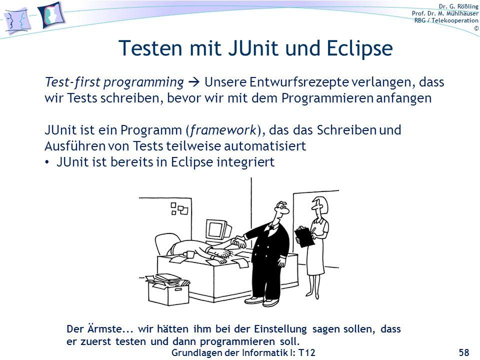 Testen mit JUnit und Eclipse