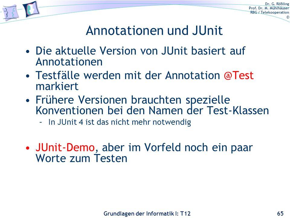 Annotationen und JUnit