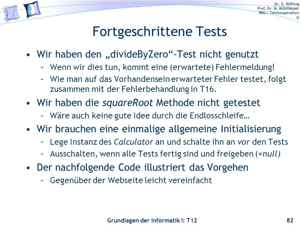 Fortgeschrittene Tests