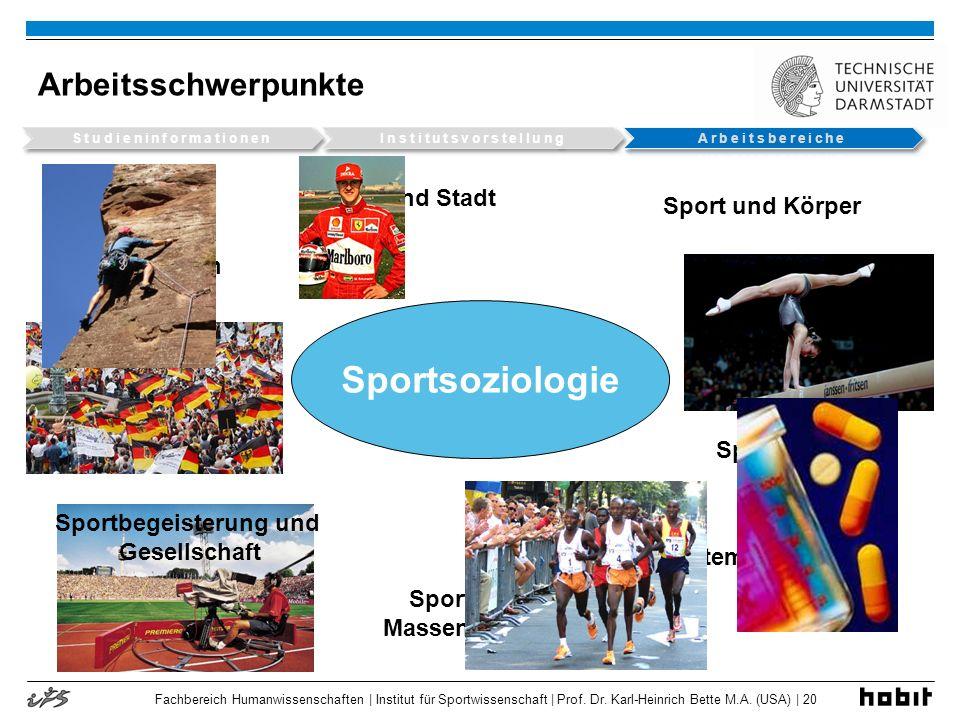 Studieninformationen Institutsvorstellung Sportbegeisterung und