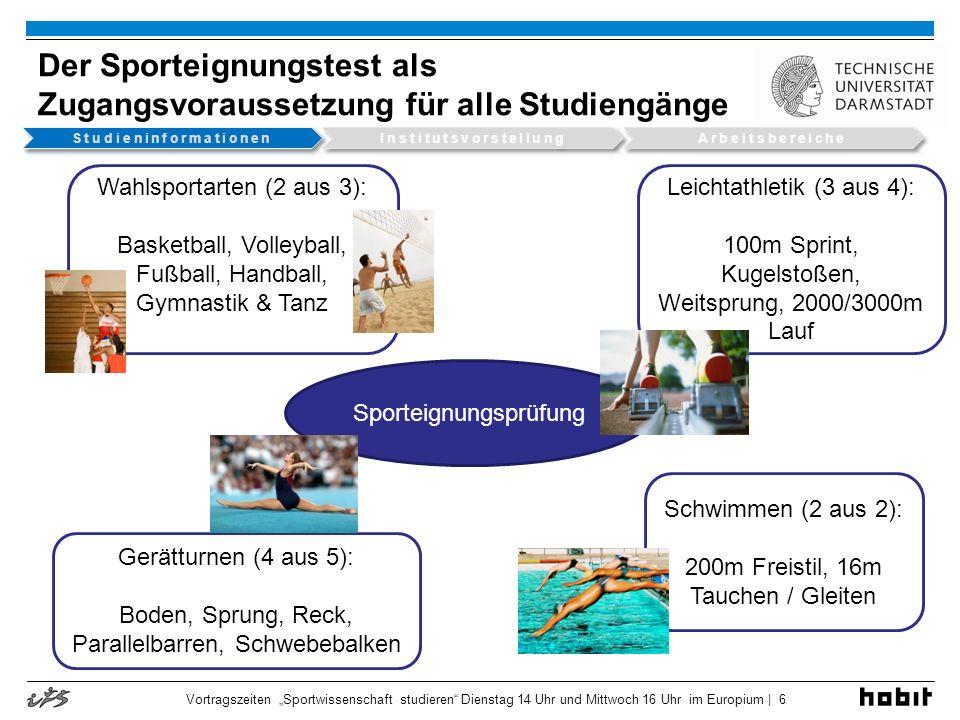Der Sporteignungstest als Zugangsvoraussetzung für alle Studiengänge
