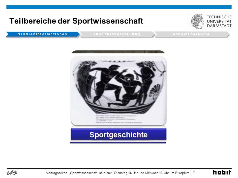 Teilbereiche der Sportwissenschaft