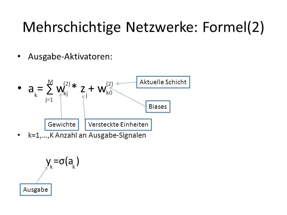 Mehrschichtige Netzwerke: Formel(2)