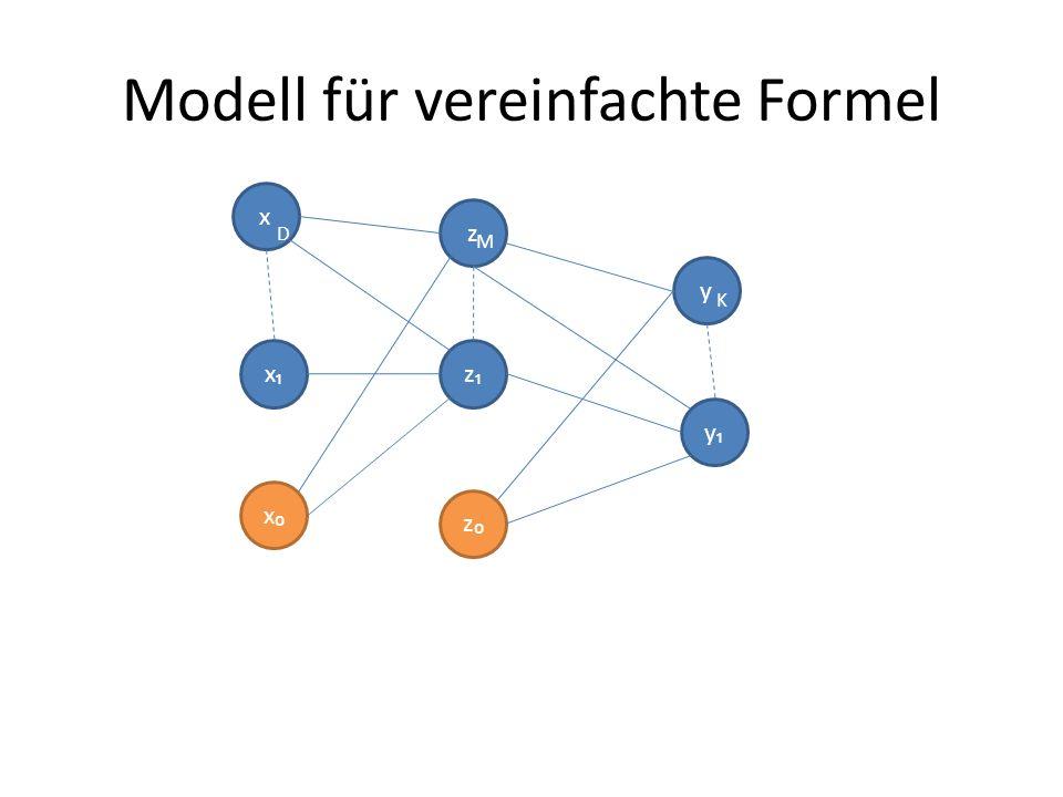 Modell für vereinfachte Formel