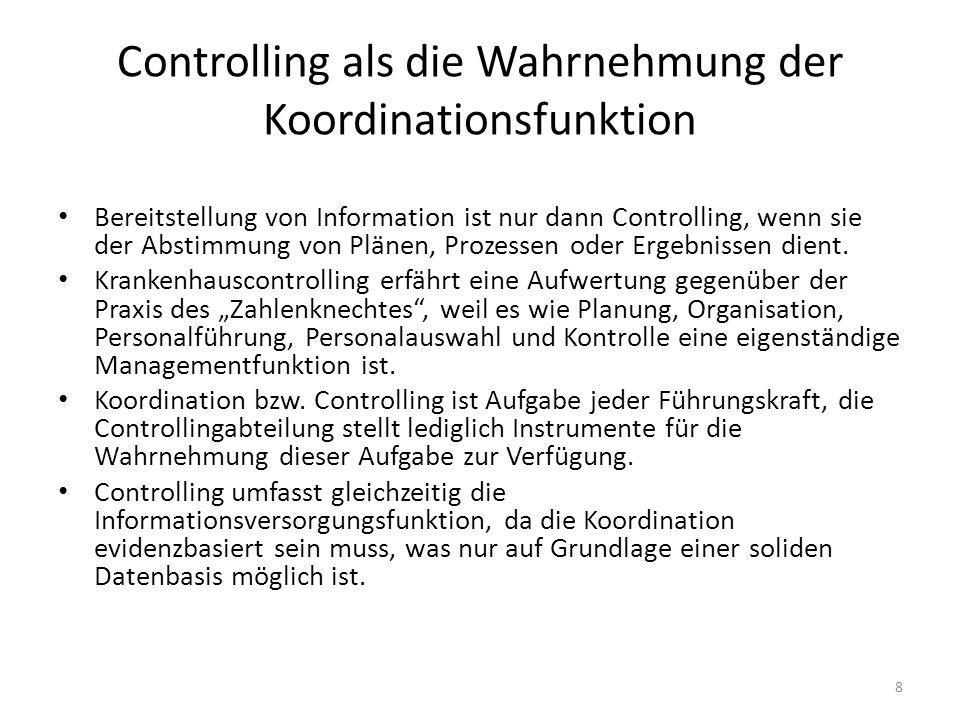 Controlling als die Wahrnehmung der Koordinationsfunktion