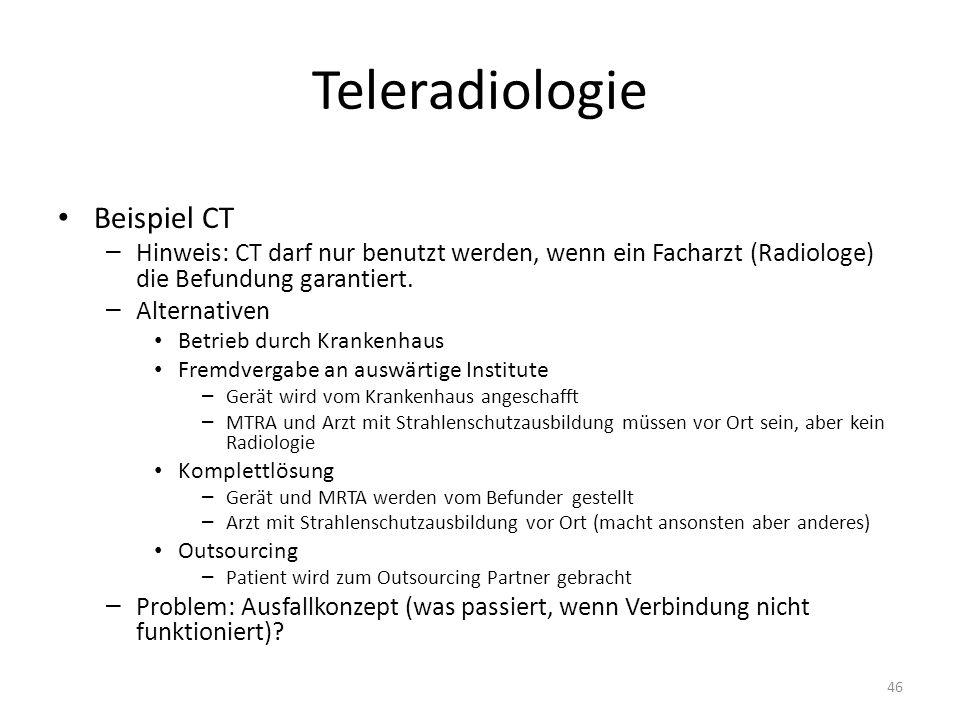 Teleradiologie Beispiel CT