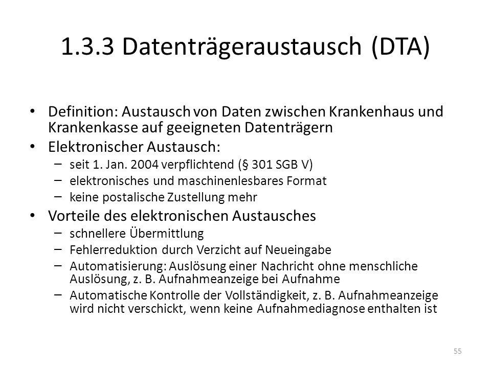 1.3.3 Datenträgeraustausch (DTA)