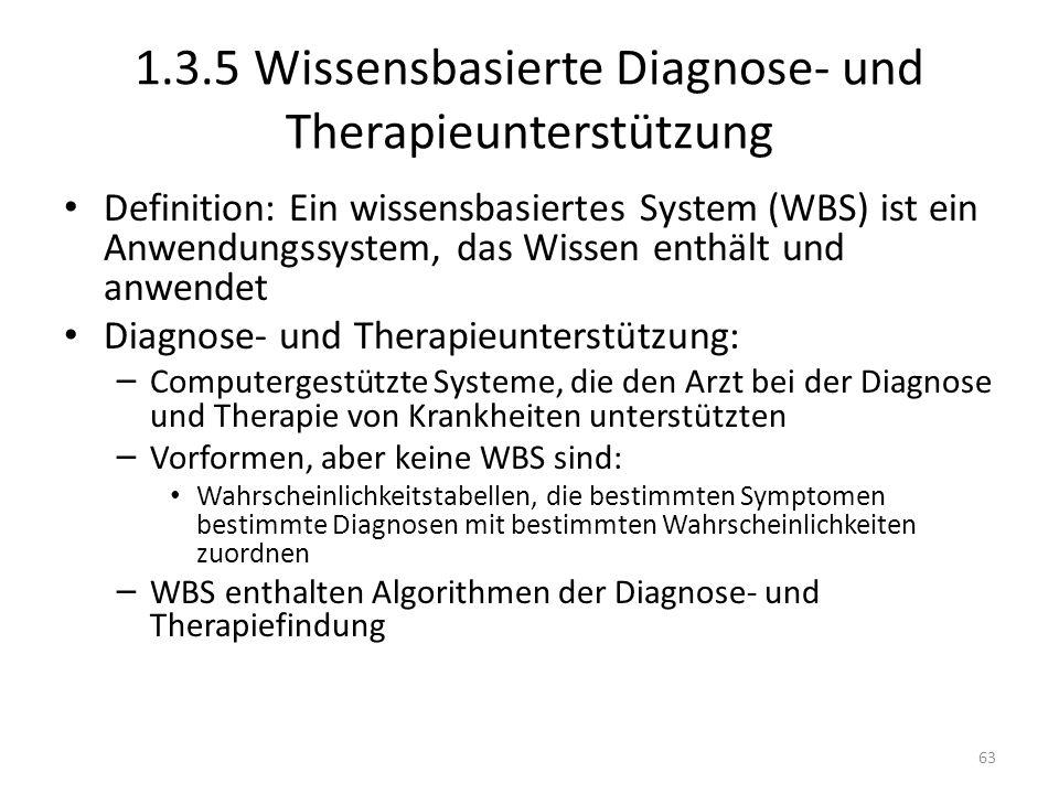 1.3.5 Wissensbasierte Diagnose- und Therapieunterstützung