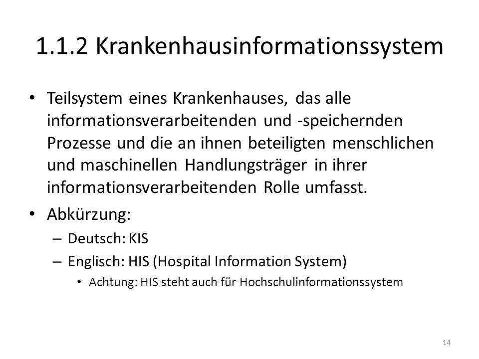 1.1.2 Krankenhausinformationssystem