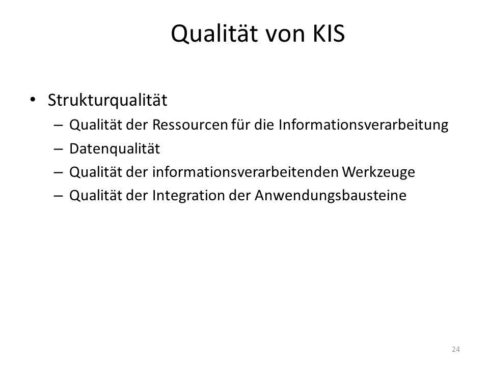 Qualität von KIS Strukturqualität