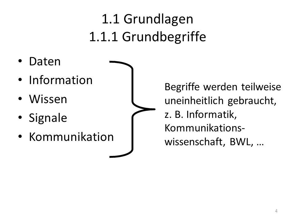 1.1 Grundlagen 1.1.1 Grundbegriffe