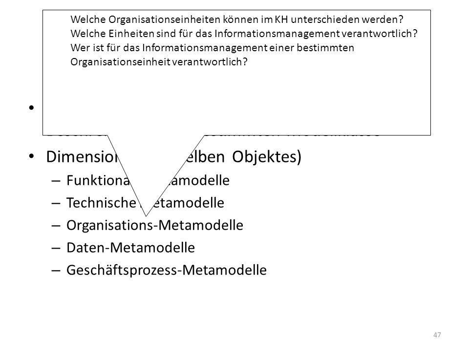 Welche Organisationseinheiten können im KH unterschieden werden