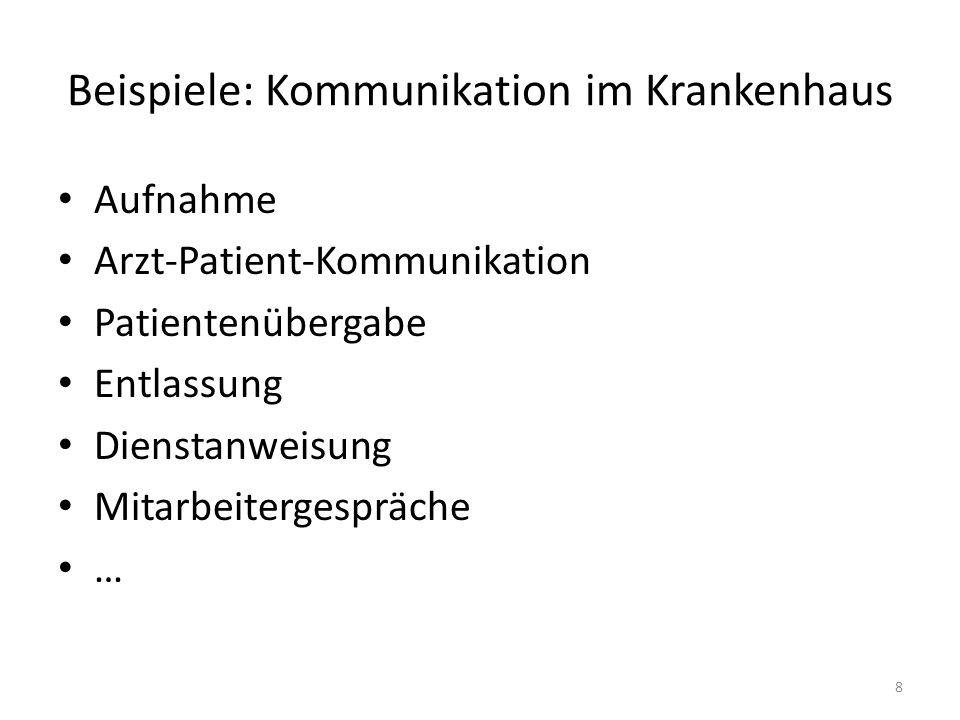 Beispiele: Kommunikation im Krankenhaus
