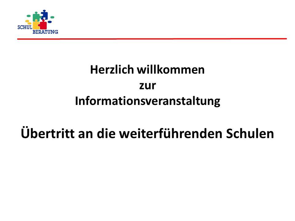 Informationsveranstaltung Übertritt an die weiterführenden Schulen