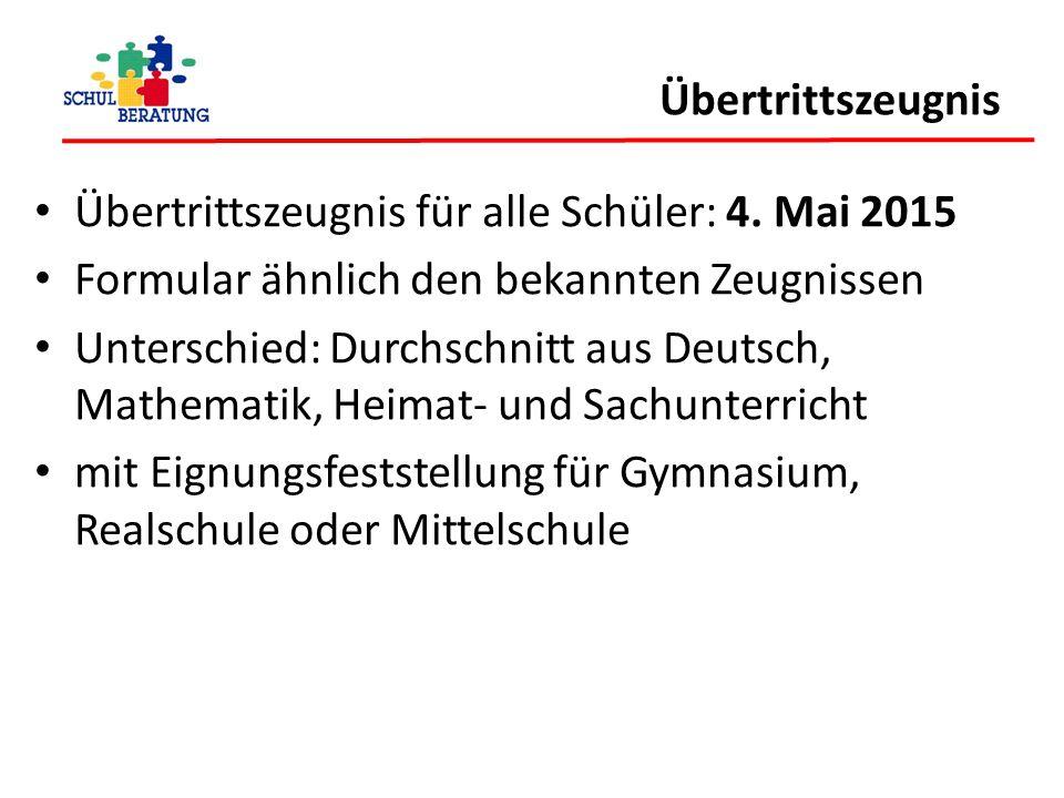 Übertrittszeugnis Übertrittszeugnis für alle Schüler: 4. Mai 2015. Formular ähnlich den bekannten Zeugnissen.