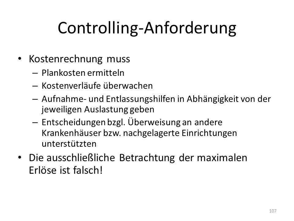 Controlling-Anforderung