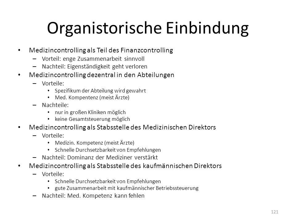 Organistorische Einbindung