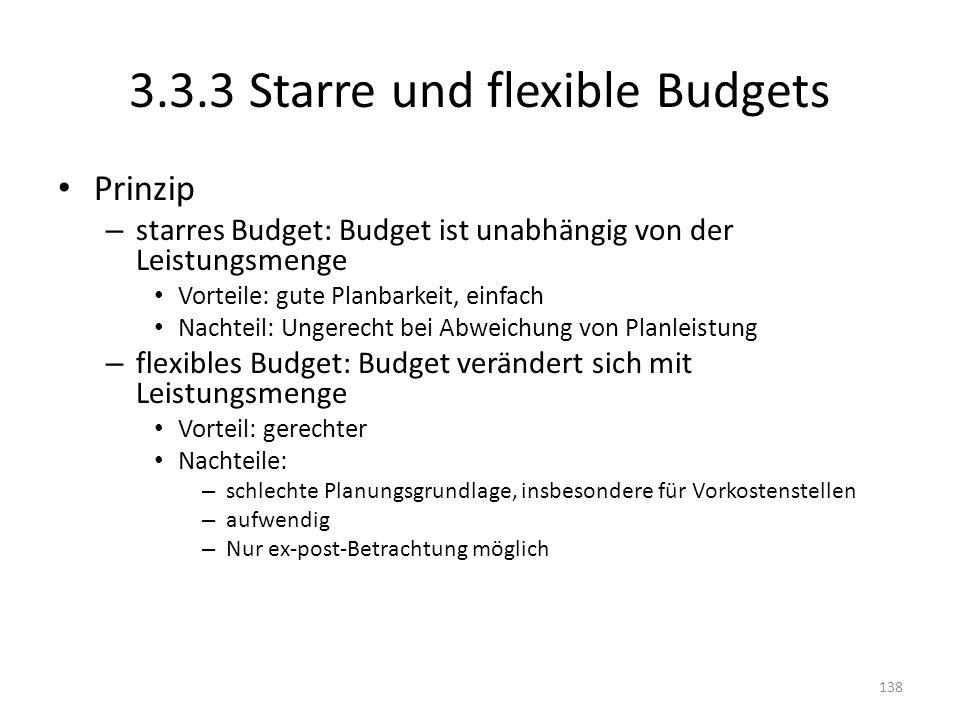 3.3.3 Starre und flexible Budgets