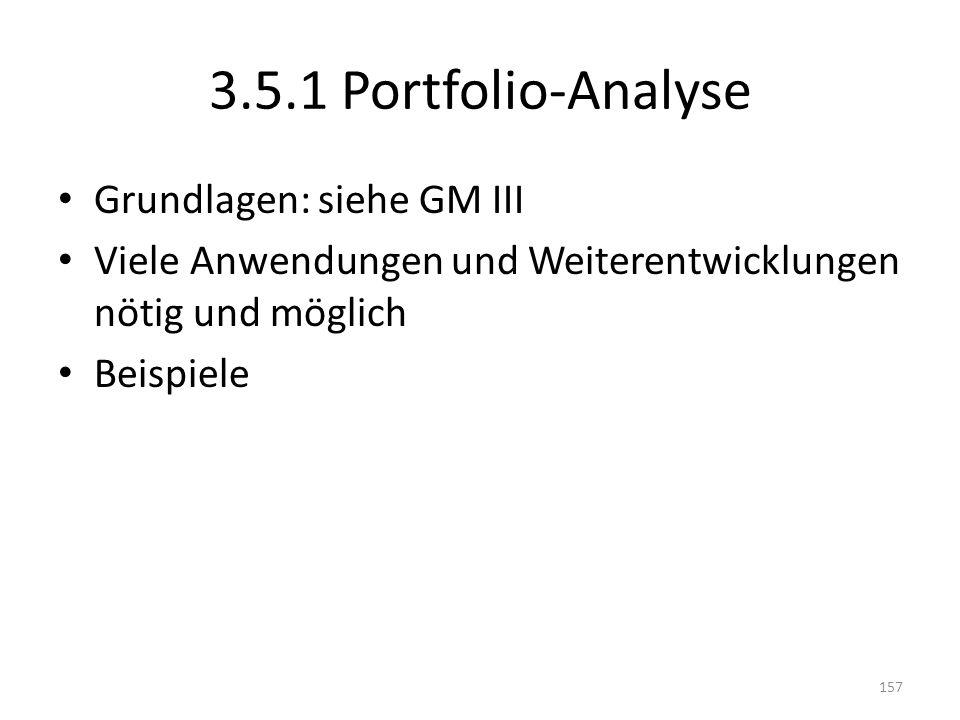 3.5.1 Portfolio-Analyse Grundlagen: siehe GM III