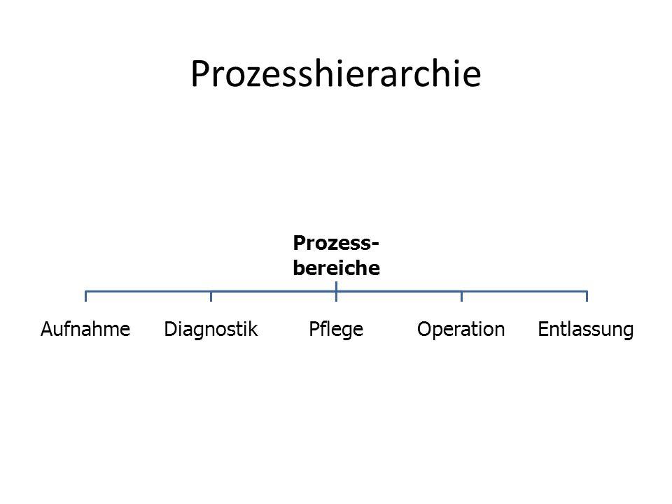 Prozesshierarchie bereiche Prozess- Aufnahme Diagnostik Pflege