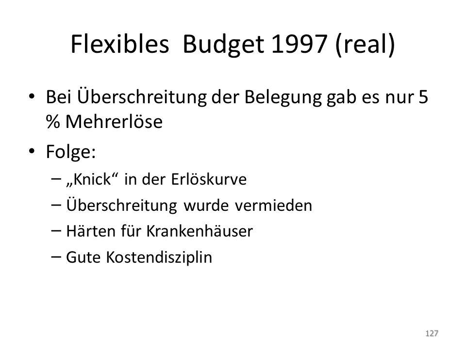 Flexibles Budget 1997 (real)
