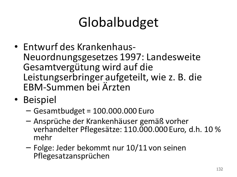 Globalbudget