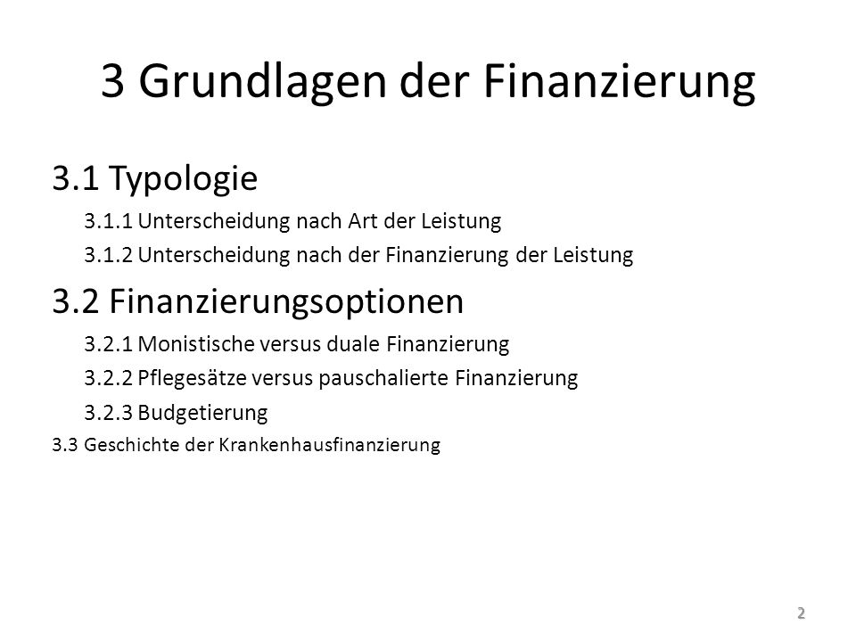 3 Grundlagen der Finanzierung