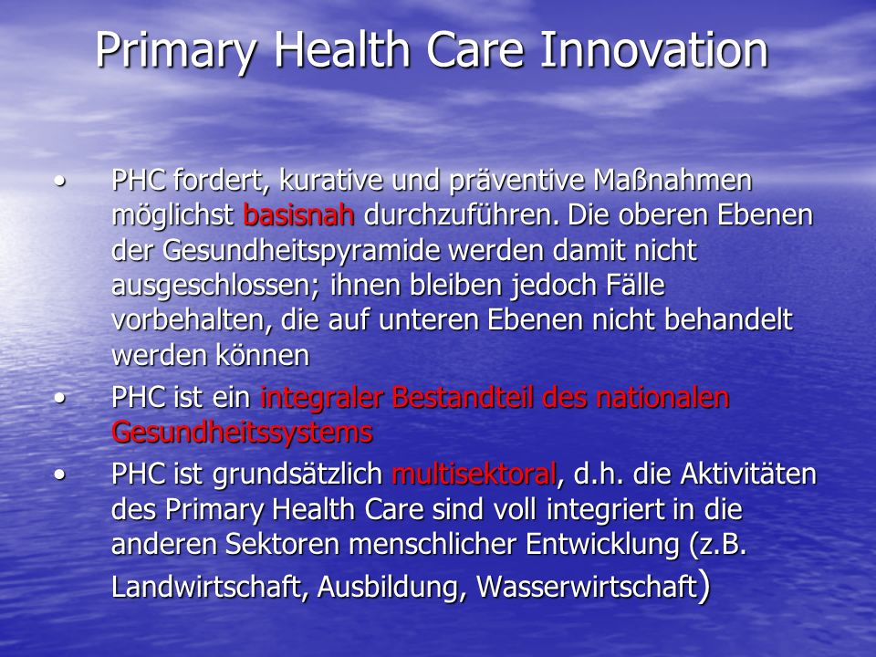 Primary Health Care Innovation