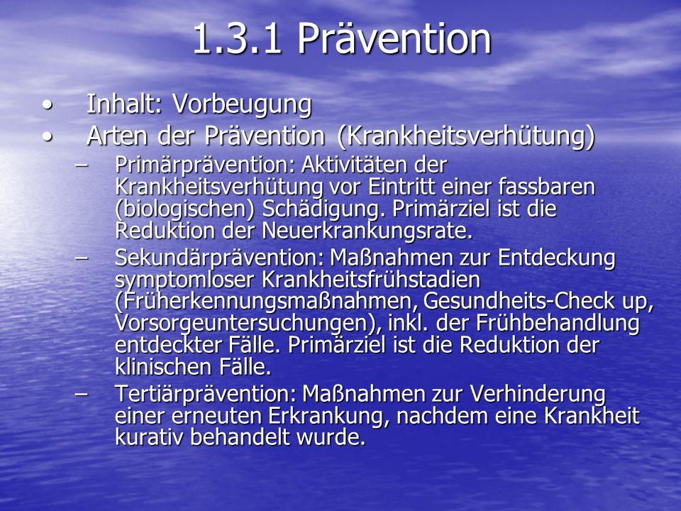 1.3.1 Prävention Inhalt: Vorbeugung