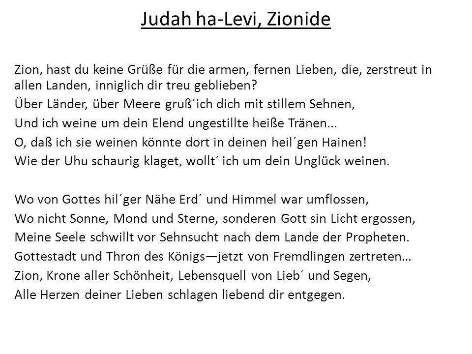 Judah ha-Levi, Zionide