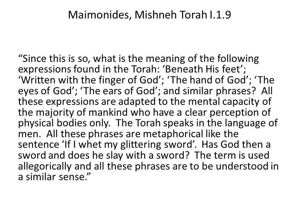 Maimonides, Mishneh Torah I.1.9