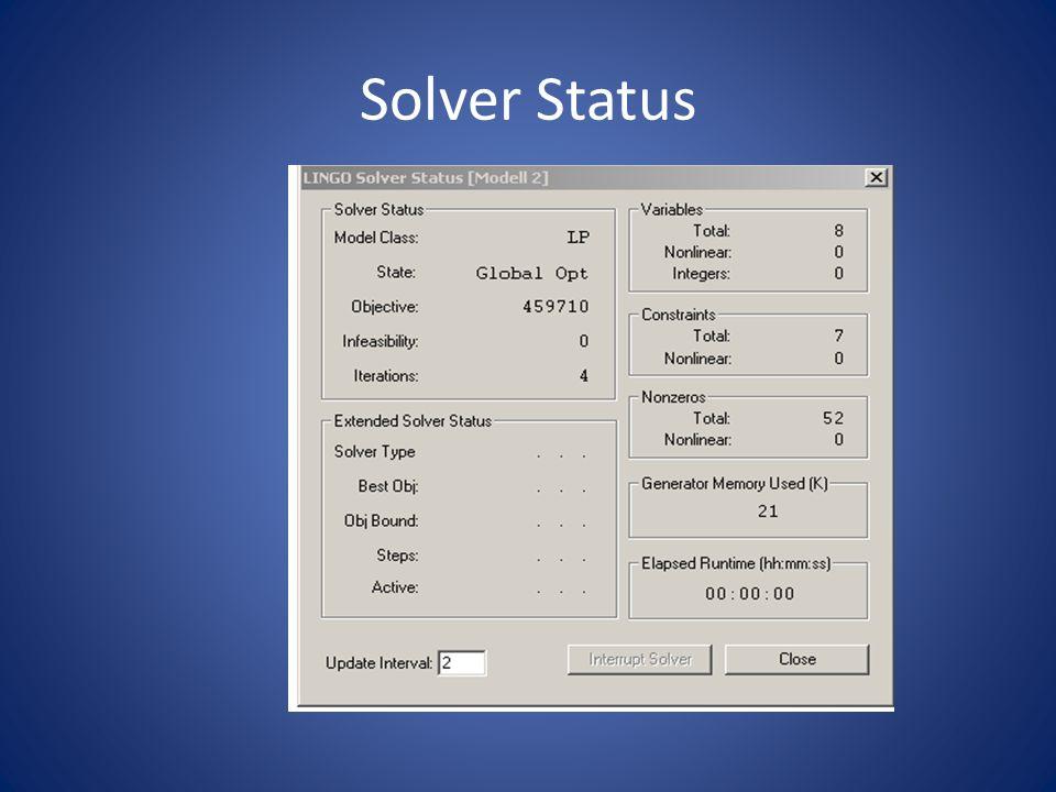 Solver Status