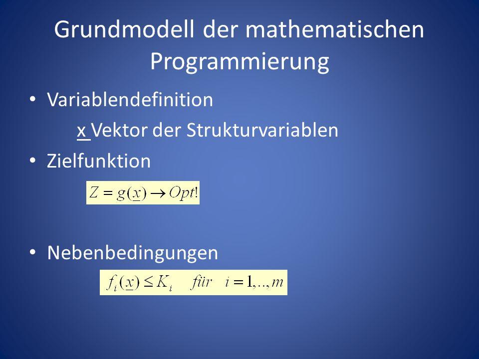 Grundmodell der mathematischen Programmierung