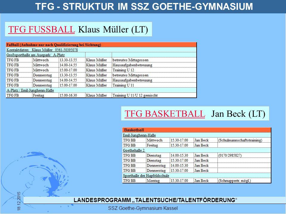TFG - STRUKTUR IM SSZ GOETHE-GYMNASIUM