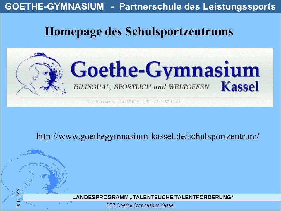 Homepage des Schulsportzentrums