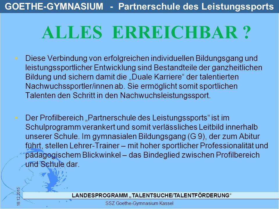 GOETHE-GYMNASIUM - Partnerschule des Leistungssports