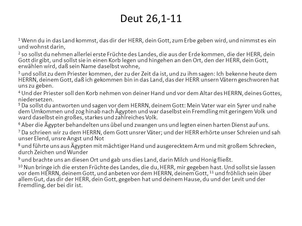 Deut 26,1-11