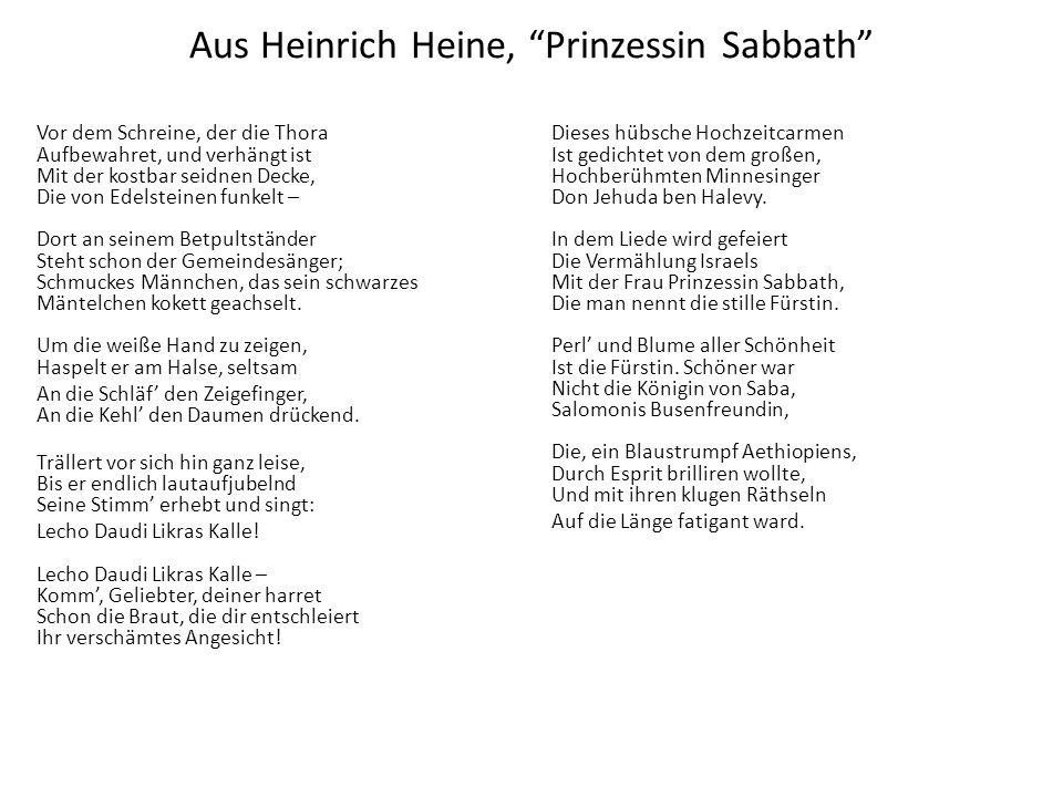 Aus Heinrich Heine, Prinzessin Sabbath