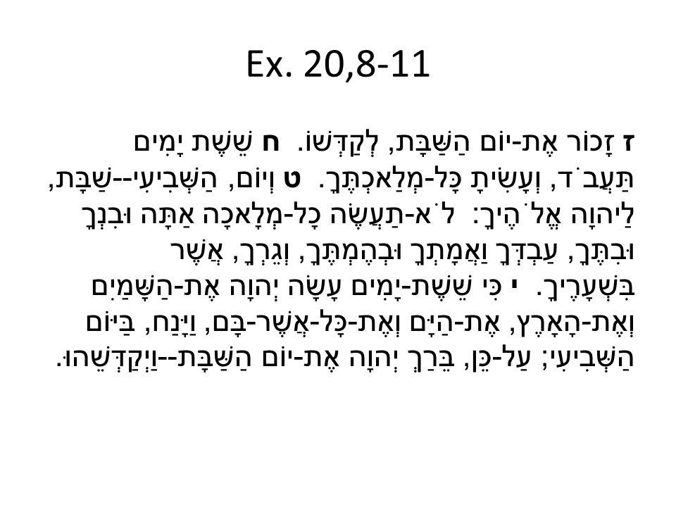 Ex. 20,8-11